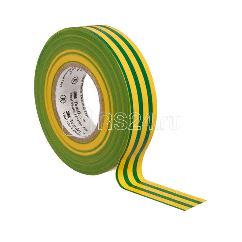 Изолента ПВХ 19мм Temflex 1300 жел./зел. (рул.20м) 3М 7100080346