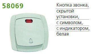 Кнопка звонка СП OVAL с символом и инд. бел. POWERMAN 1152769 купить в интернет-магазине RS24