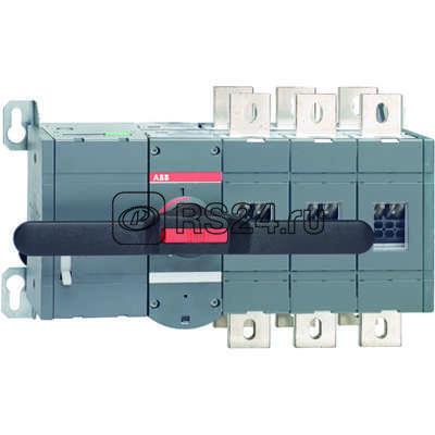 Рубильник реверсивный 3п OTM800E3CM24D 800А с мотор. приводом 24В DC ABB 1SCA022872R5910 купить в интернет-магазине RS24