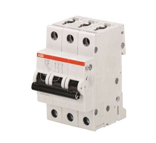Выключатель автоматический модульный 3п D 3А 10кА S203M D3 ABB 2CDS273001R0031 купить в интернет-магазине RS24