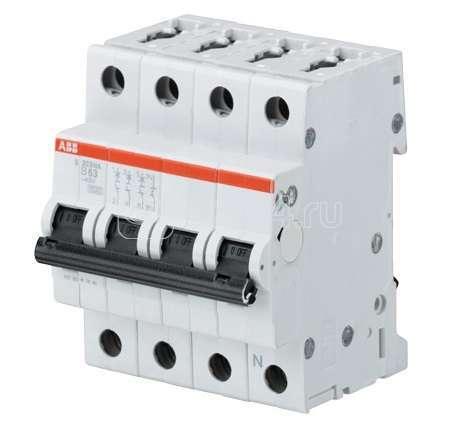 Выключатель автоматический модульный 4п (3P+N) B 13А 10кА S203M ABB 2CDS273103R0135 купить в интернет-магазине RS24