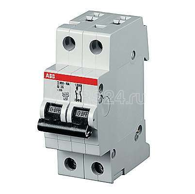 Выключатель автоматический модульный 2п (1P+N) D 8А 10кА S201P ABB 2CDS281103R0081 купить в интернет-магазине RS24