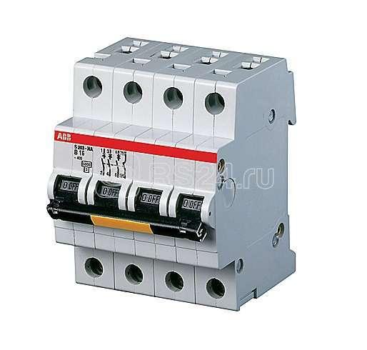 Выключатель автоматический модульный 4п (3P+N) Z 20А 25кА S203P ABB 2CDS283103R0488 купить в интернет-магазине RS24