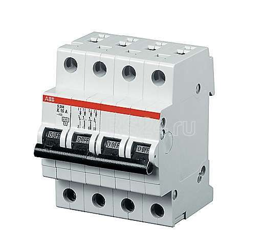 Выключатель автоматический модульный 4п C 20А 25кА S204P ABB 2CDS284001R0204 купить в интернет-магазине RS24