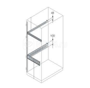Профиль L=800 H=48 для монтажа аксессуаров (уп.2шт) ABB EB0800 купить в интернет-магазине RS24