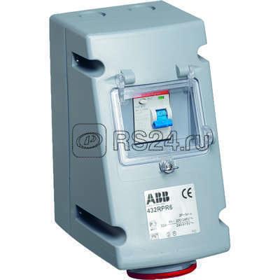 Розетка 416RPR6 16А 3P+N+E с УЗО IP44 ABB 2CMA168278R1000 купить в интернет-магазине RS24