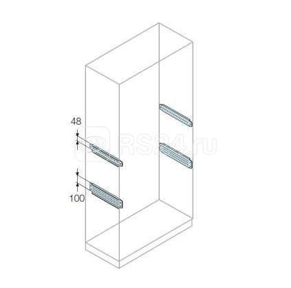 Профиль L=500 H=48 для монтажа аксессуаров (уп.2шт) ABB TS1005 купить в интернет-магазине RS24