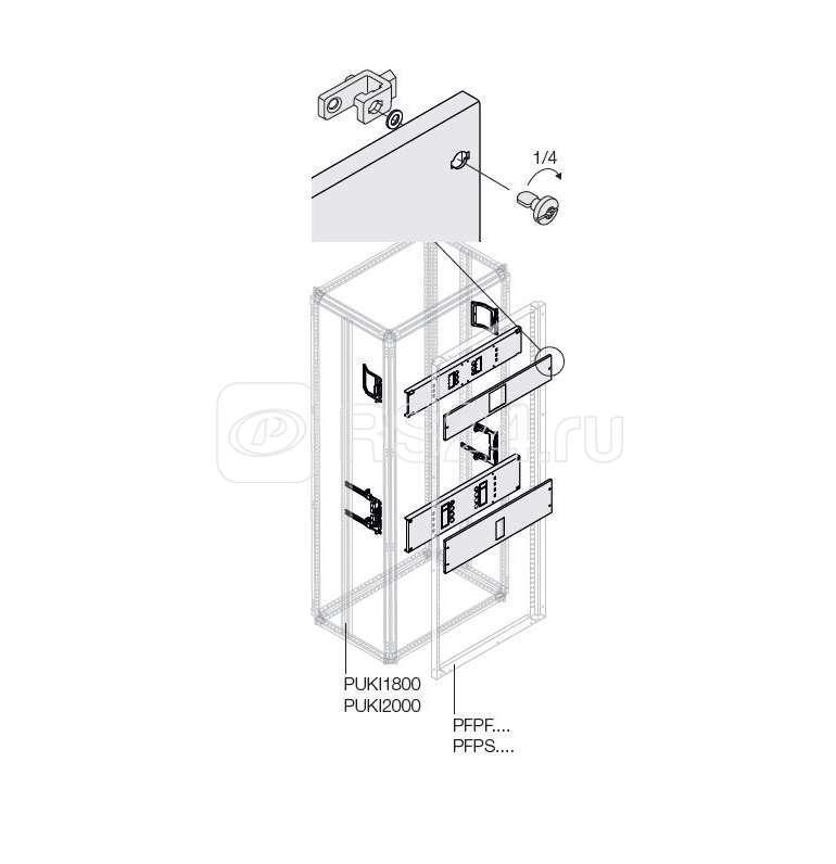 Комплект T5 3P FIX мотор. (400/630A) W=400мм ABB 1STQ007852A0000 купить в интернет-магазине RS24