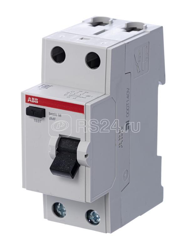 Выключатель диф. тока 2п 40А 30мА тип AC Basic M BMF41240 ABB 2CSF602041R1400 купить в интернет-магазине RS24