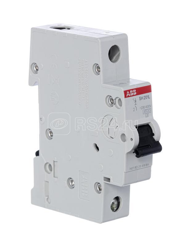 Выключатель автоматический модульный 1п C 10А 4.5кА SH201L C10 ABB 2CDS241001R0104 купить в интернет-магазине RS24