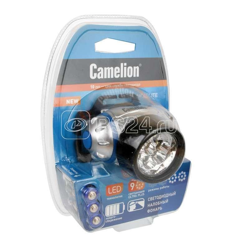 Фонарь налобный LED 5317-9Mx (9 ультра ярких LED 4 режима; 3хR03 в комплекте; маталлик) Camelion 7790 купить в интернет-магазине RS24