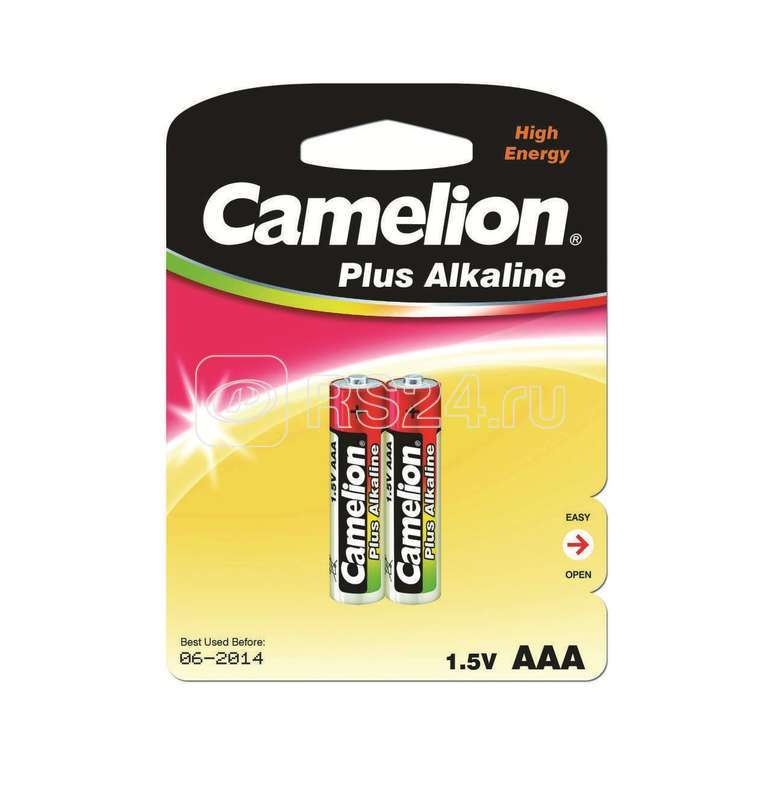 Элемент питания алкалиновый LR LR03 BL-2 (блист.2шт) Camelion 1651