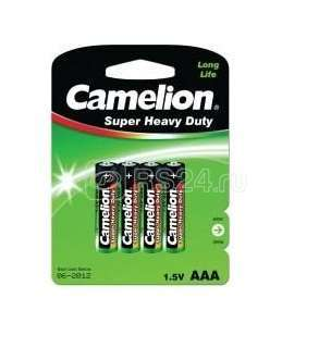 Элемент питания солевой R R03 BL-4 (блист.4шт) Camelion 1668