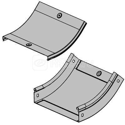 Угол для лотка вертикальный внутренний 45град. 500х100 CS 45 DKC 36766