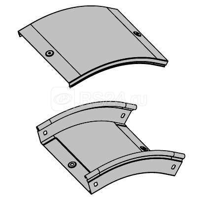 Угол для лотка вертикальный внешний 45град. 150х80 CD 45 DKC 36863