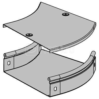 Угол для лотка горизонтальный 45град. 150х50 CPO 45 DKC 36063