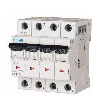 Выключатель автоматический модульный 4п D 12А 6кА PL6-D12/4 EATON 166539 купить в интернет-магазине RS24