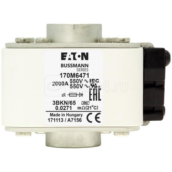 Предохранитель быстрый 630А 690В 3DKN/65 AR EATON 170M6480 купить в интернет-магазине RS24