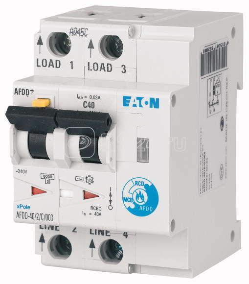 Устройство обнаружения дуги AFDD-40/2/C/003-LI/A EATON 187241 купить в интернет-магазине RS24