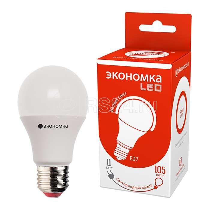 Лампа светодиодная A60 11Вт грушевидная 4500К бел. E27 850лм 220-240В ЭКОНОМКА Eco_LED11wA60E2745