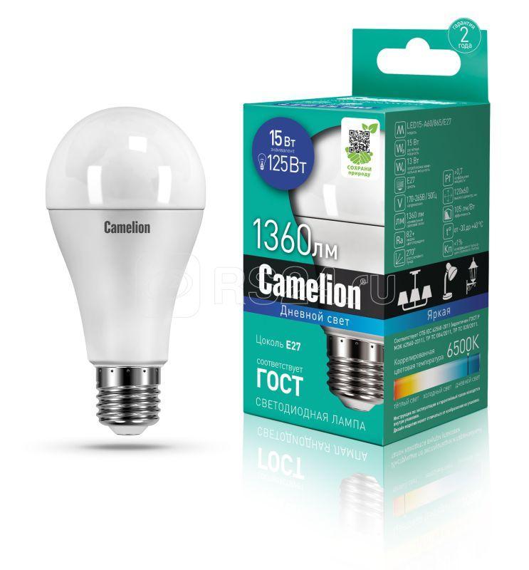 Лампа светодиодная LED15-A60/865/E27 15Вт грушевидная 220В Camelion 12713 купить в интернет-магазине RS24