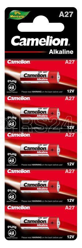Элемент питания алкалиновый для пультов сигнализаций LR27A Mercury Free A27-BP5 12В BL-5 (блист.5шт) Camelion 12830 купить в интернет-магазине RS24