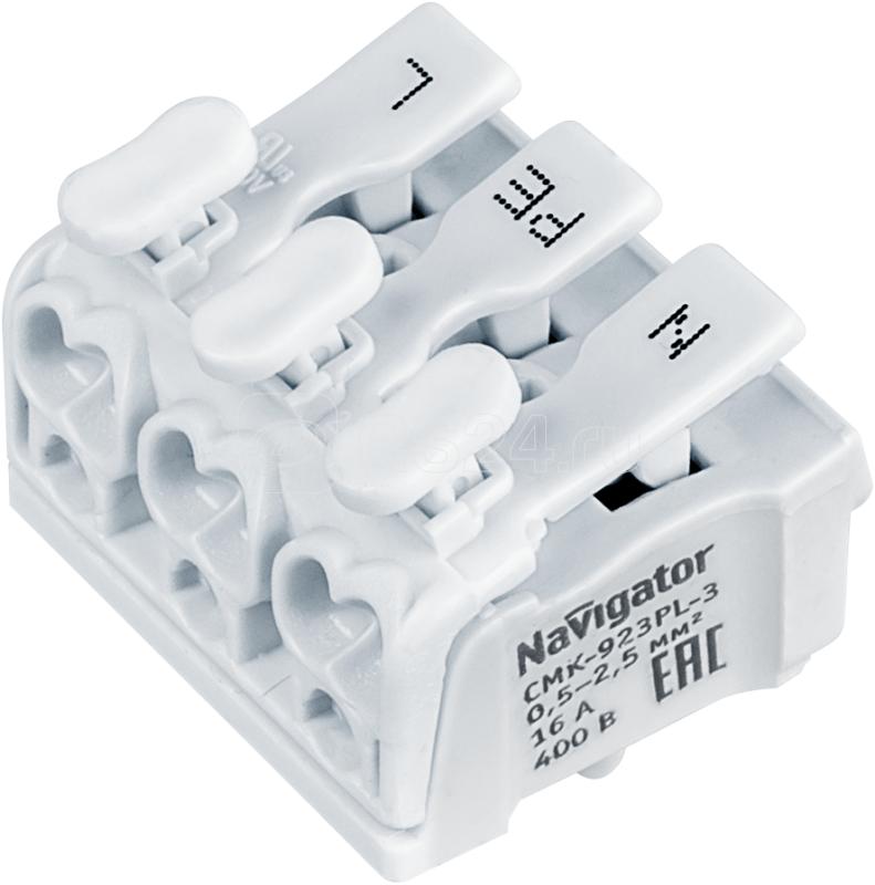 Клемма монтажная 61 691 NTC-CMK-923PL-3-50 (уп.50шт) Navigator 61691 купить в интернет-магазине RS24