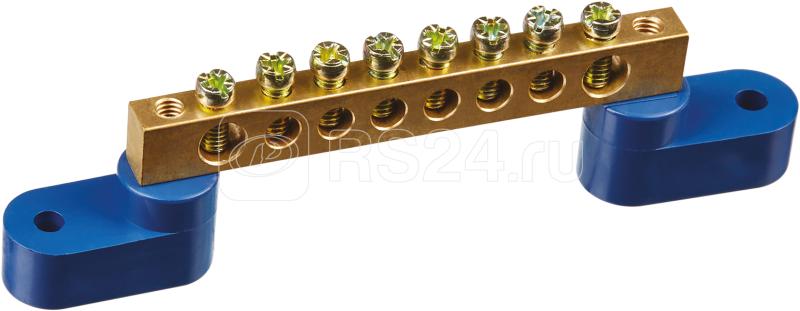 Шина нулевая на двух угловых изол. 6х9-8 Navigator 71171 купить в интернет-магазине RS24
