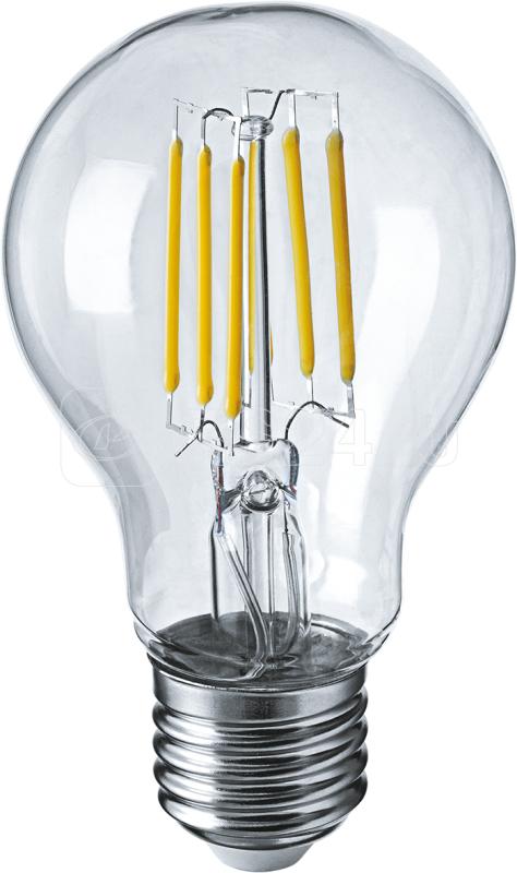 Лампа светодиодная 71 305 NLL-F-A60-6-230-2.7K-E27 6Вт грушевидная 2700К тепл. бел. E27 650лм 176-264В Navigator 71305 купить в интернет-магазине RS24