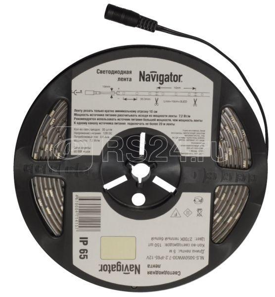 Лента светодиодная 71 414 NLS-5050WW30-7.2 IP20 12B R5 7.2Вт/м (уп.5м) Navigator 71414 купить в интернет-магазине RS24
