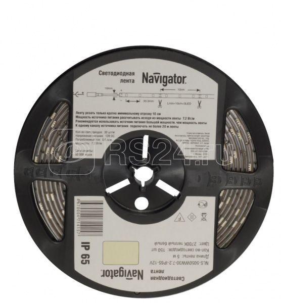 Лента светодиодная 71 426 NLS-5050WW60-14.4 IP20 12B R5 14.4Вт/м (уп.5м) Navigator 71426 купить в интернет-магазине RS24