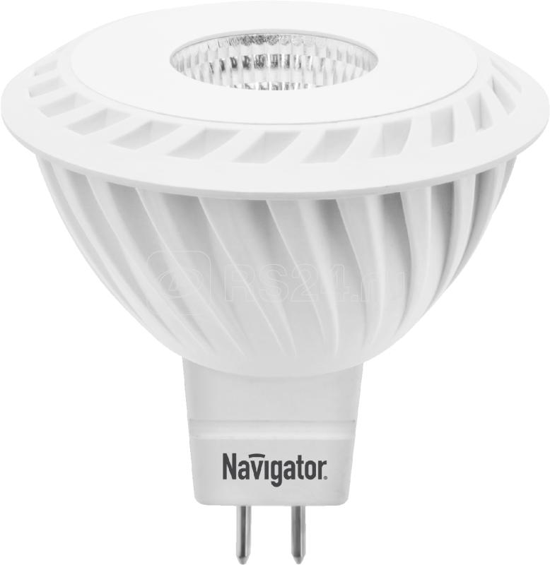 Лампа светодиодная 94 350 NLL-MR16-7-230-3K-GU5.3-60D 7Вт 3000К тепл. бел. GU5.3 490лм 170-260В Navigator 94350 купить в интернет-магазине RS24