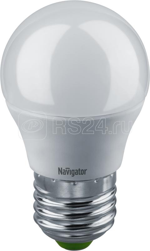 Лампа светодиодная 94 377 NLL-G45-5-230-2.7K-E27-DIMM 7Вт шар 2700К тепл. бел. E27 350лм 170-260В диммир. Navigator 94377 купить в интернет-магазине RS24