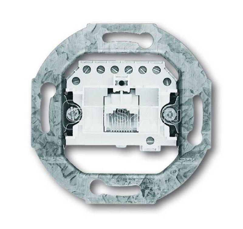 Механизм розетки телеф. RJ11/12; RJ45 ABB 0230-0-0227