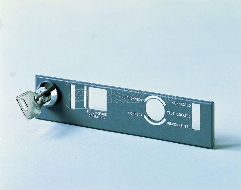 Блокировка положения выкл. в фикс. части Emax E1/6 с ключом N20006 или навесной замок D=4мм ABB 1SDA058281R1 купить в интернет-магазине RS24