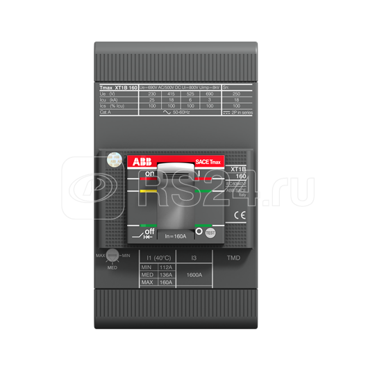 Выключатель автоматический 3п XT1H 160 TMD 25-450 3p F F ABB 1SDA080837R1 купить в интернет-магазине RS24