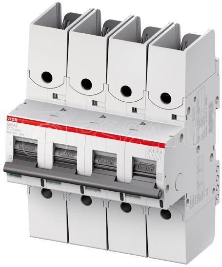 Выключатель автоматический модульный 4п K 63А 50кА S804S-UCK63-R ABB 2CCS864002R1597 купить в интернет-магазине RS24