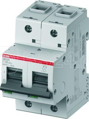 Выключатель автоматический модульный 2п C 40А 6кА S802N C40 ABB 2CCS892001R0404 купить в интернет-магазине RS24