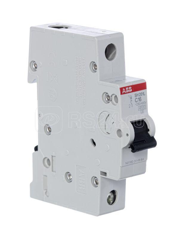 Выключатель автоматический модульный 1п C 16А 4.5кА SH201L C16 ABB 2CDS241001R0164