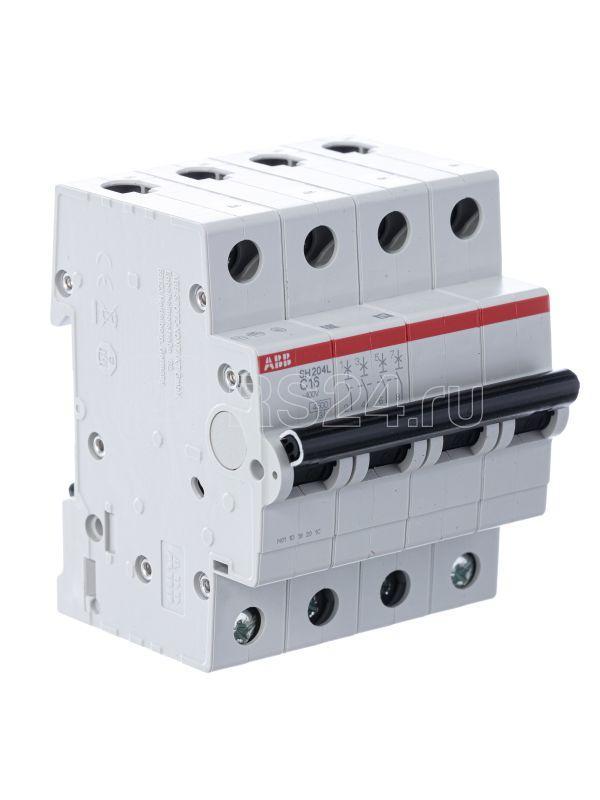 Выключатель автоматический модульный 4п C 16А 4.5кА SH204L C16 ABB 2CDS244001R0164 купить в интернет-магазине RS24