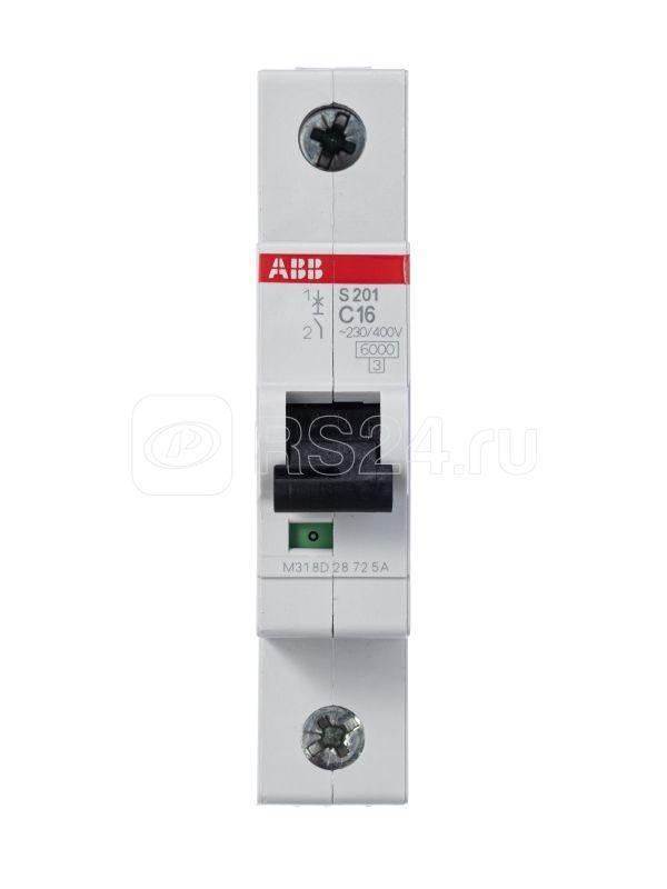 Выключатель автоматический модульный 1п C 16А 6кА S201 C16 ABB 2CDS251001R0164