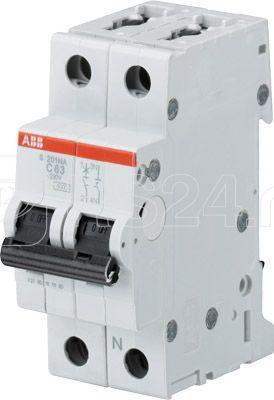 Выключатель автоматический модульный 2п (1P+N) C 16А 6кА S201 C16NA ABB 2CDS251103R0164 купить в интернет-магазине RS24