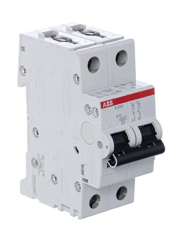 Выключатель автоматический модульный 2п D 1А 6кА S202 D1 ABB 2CDS252001R0011 купить в интернет-магазине RS24