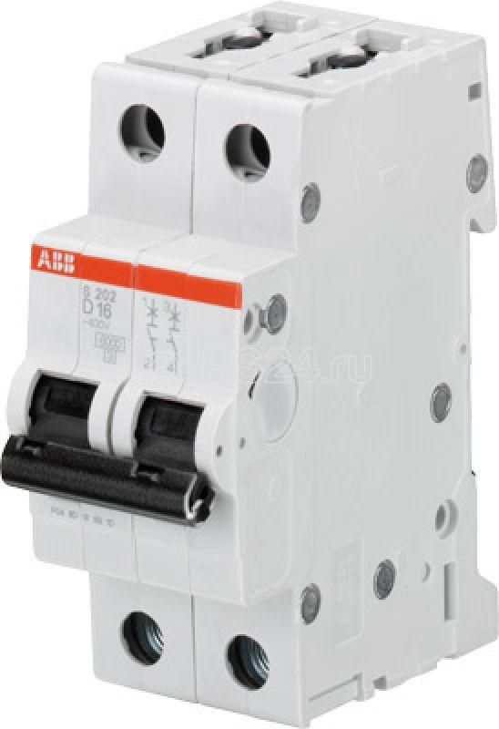 Выключатель автоматический модульный 2п D 4А 6кА S202 D4 ABB 2CDS252001R0041