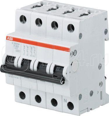 Выключатель автоматический модульный 4п (3P+N) K 16А 6кА S203 K16NA ABB 2CDS253103R0467 купить в интернет-магазине RS24