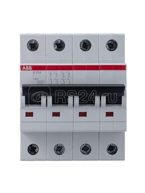 Выключатель автоматический модульный 4п B 32А 6кА S204 B32 ABB 2CDS254001R0325 купить в интернет-магазине RS24