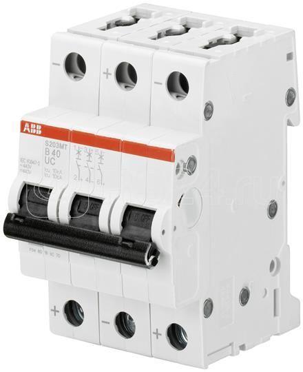 Выключатель автоматический модульный 3п D 4А 10кА S203MT-D4 ABB 2CDS273006R0041 купить в интернет-магазине RS24