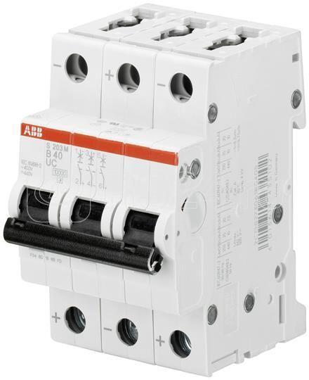 Выключатель автоматический модульный 3п K 8А 10кА S203M K8UC ABB 2CDS273061R0407 купить в интернет-магазине RS24