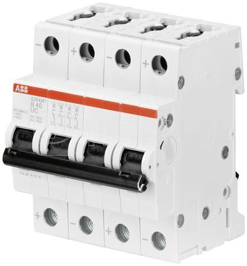 Выключатель автоматический модульный 4п D 8А 10кА S204MT-D8 ABB 2CDS274006R0081 купить в интернет-магазине RS24