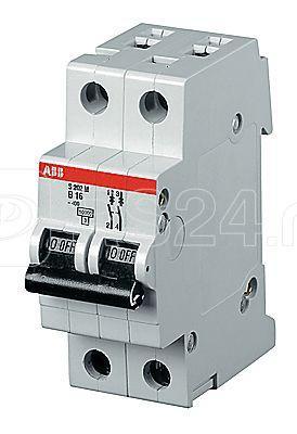 Выключатель автоматический модульный 2п C 0.5А 25кА S202P C0.5 ABB 2CDS282001R0984 купить в интернет-магазине RS24